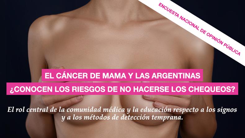 Encuesta Nacional de Opinión Pública sobre #cancerdemama