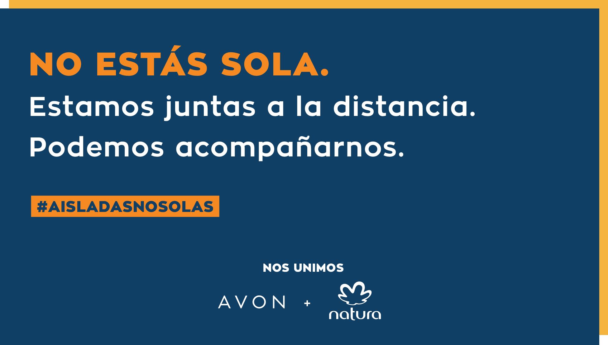 Avon y Natura se unen para lanzar la campaña #AisladasNoSolas